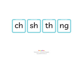 Flashcards, Consonant digraphs