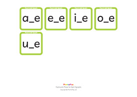 Flashcards, Phase 5a, Split Digraphs