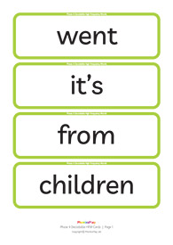 Decodable HFW cards